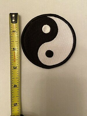 Taekidokai Martial Arts yin yang symbol Embroidered Iron Sew on Patch #1599