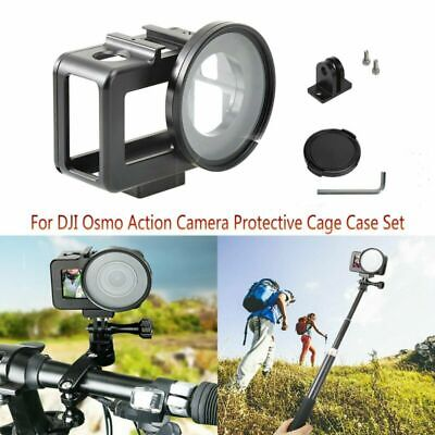 For DJI Osmo Action Camera Metal Alloy Protector Frame Housing Cage Case Set Kit