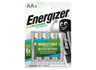 4 piles AA ENERGIZER rechargeables Extreme HR6 2300 mAh