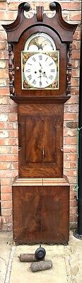 Antique Mahogany Longcase Grandfather Clock 8 day Clock  S. TAYLOR ROCHDALE