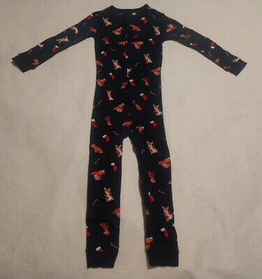 NWT Gymboree Boy Fleece Pajama 1pc Christmas Holiday 4,5//6