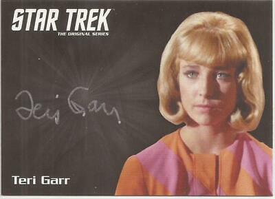Teri Garr Silver Autograph Card - Star Trek TOS Archives & Inscriptions