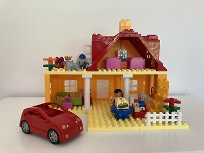 Lego Duplo Family House 9152 Vintage Rare 1988 With Extras