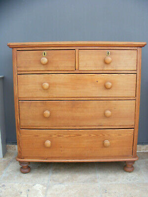 Antique Victorian solid pine chest of drawers