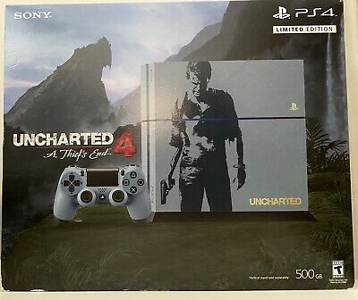 Sony Playstation 4 Uncharted 4 Limited Edition Bundle 500gb Gray