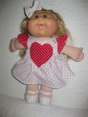 CPK doll clothes//14 inch//blue dress//hair bows//bloomers