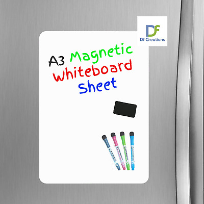 3x Q Connect Magnetic Whiteboard Drywipe Notice Board 900x600mm