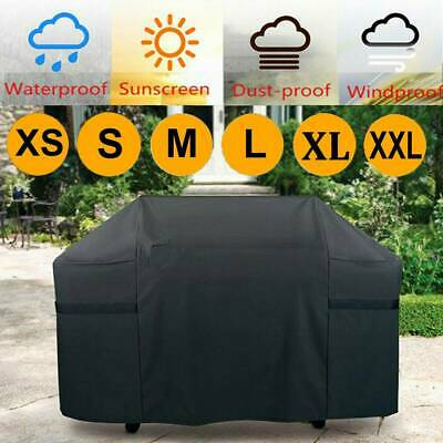 UK 145cm Heavy Duty BBQ Cover Waterproof Medium Barbecue Grill Outdoor Protector