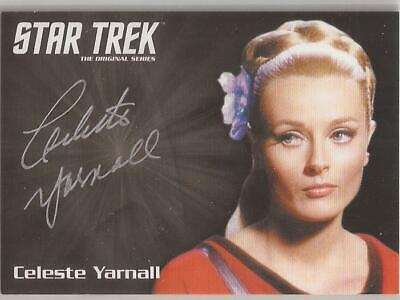 Celeste Yarnall Silver Autograph Card Star Trek TOS Archives & Inscriptions