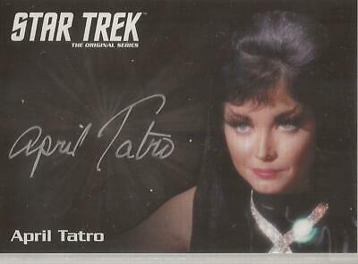 April Tatro Silver Autograph Card Star Trek TOS Archives & Inscriptions