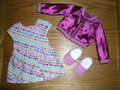 AMERICAN GIRL DOLL TRULY ME MEET OUTFIT FLORAL DRESS JACKET PANTY /& SHOES NEW