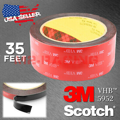 Genuine 3M VHB #5952 Double-Sided Mounting Foam Tape Automotive Car 40mmx35FT