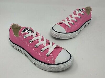 CONVERSE ALL STAR Low Top Red Shoes Youth Kids Girls Fashion