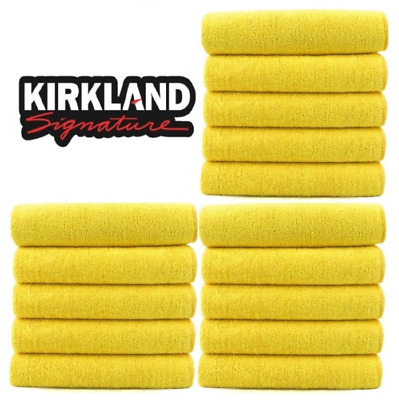 Kirkland Signature 40cm Ultra Plush Microfibre Towels/Soft Cloth - 15 Pack