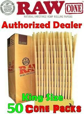 Raw Classic King Size pre rolled Cones & Filter tips (50 Cones) Buy Authentic