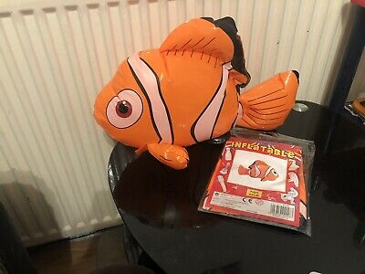 New Inflatable Nemo Clown Fish Party Bag Filler 45cm Gift Item Birthday Occasion