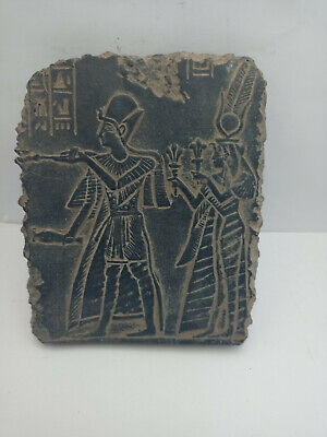 RARE ANCIENT EGYPTIAN ANTIQUE RAMSES II and NEFERTARI  Stela Stella 1520-1325 BC