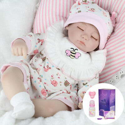 "Super Real Reborn Baby Dolls 16"" Soft Body Lifelike Newborn Handmade Girl Doll"