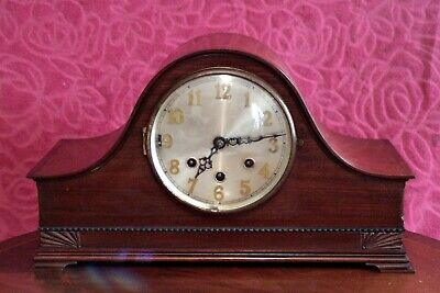 Antique Art Deco German 8-Day Mantel Clock with Whittington Chimes, early 20's C