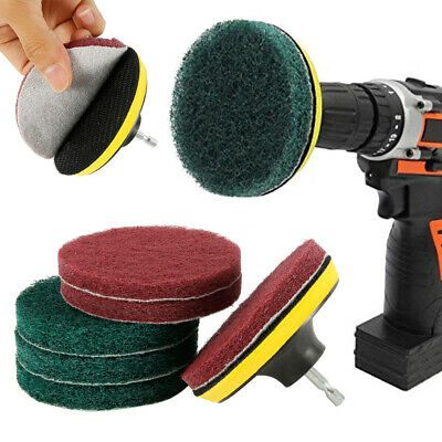 11x Brush Scrubber Power Scrub Pad Tile Tire Cleaning Kit For Car Polisher Drill