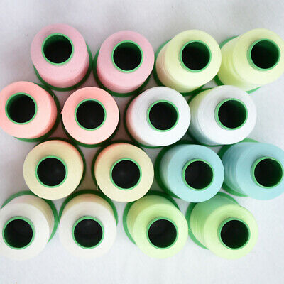 EP/_ 500//1000 Yards Spool Luminous Glow In The Dark Embroidery Sewing Thread DIY