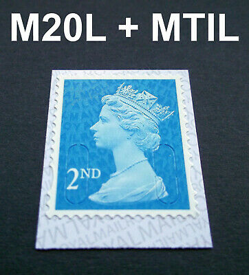 NEW JULY 2020 2nd Class M20L + MTIL MACHIN SINGLE STAMP from Booklets