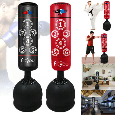 Heavy Duty Punch Bag 5.5ft Free Standing Boxing MMA Gym Kick Training Filled Bag