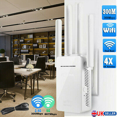 WiFi Range Extender Signal Booster 300Mbps Internet Wireless Routers Repeater UK