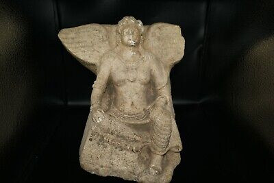 A Very Big Ancient Greek Goddess/ Woman with Wings/ Angel Stone sculpture Rare