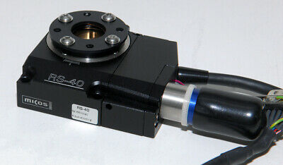 Micos / Physik Instrumente Pi Model Rs-40 Miniature Motorized Rotary Stage Table
