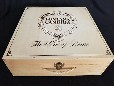 """13/"""" x 7-1//4/"""" x 3-3//4/"""" Kupferberg Wooden Wine Box with Hinged Lid and Closure"""