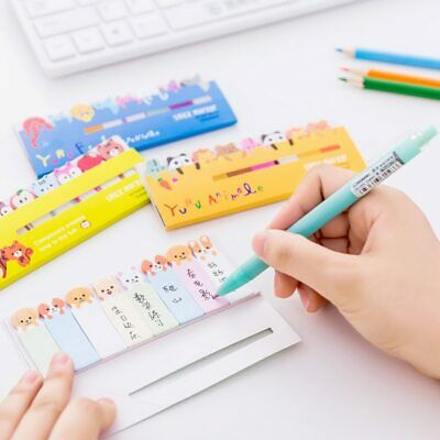 Pastel Notice Sticky Notes Colorful Removable Bookmark Creative Notepad V8I6