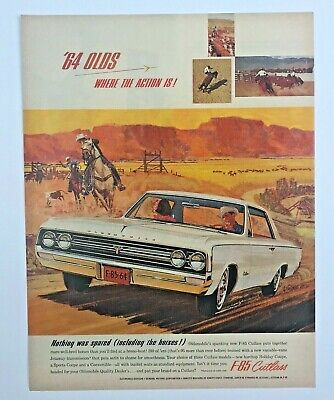 5 pages 1964 OLDSMOBILE   HOLIDAY   CUTLASS  STARFIRE ORIGINAL AD  FRENCH