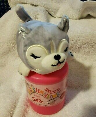 """Open Squishmallows For Justice Mystery Series 2 Scented 4""""  Plush Husky Dog"""