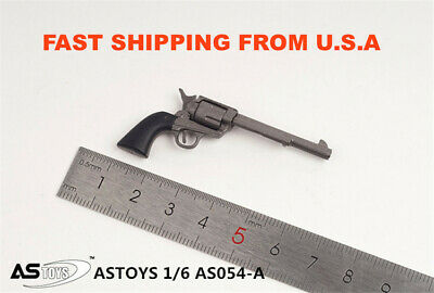 "1//6 Colt Cowboy METAL Revolver Weapon pistol agent for hot toys 12/"" figure ❶USA❶"