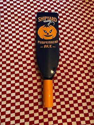 """Shipyard Brewing Co Pumpkinhead Ale Paddle Beer Tap Handle-11.75/"""" Tall NEW"""