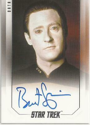 Brent Spiner as Data Bridge Crew Autograph Card - Star Trek Inflexions