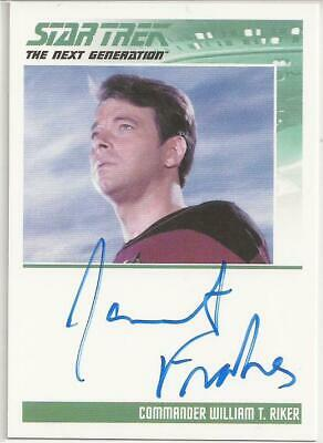 Jonathan Frakes as Commander Riker TNG Autograph Card - Star Trek Inflexions