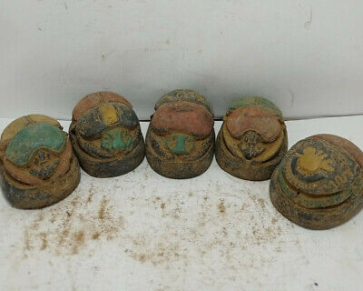 5 RARE ANCIENT EGYPTIAN ANTIQUE SCARAB Blank Stone 1231-1105 BC (8)