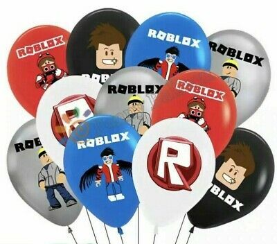 """10 x ROBLOX themed  Printed Latex Party Balloons 12"""" UK SELLER"""