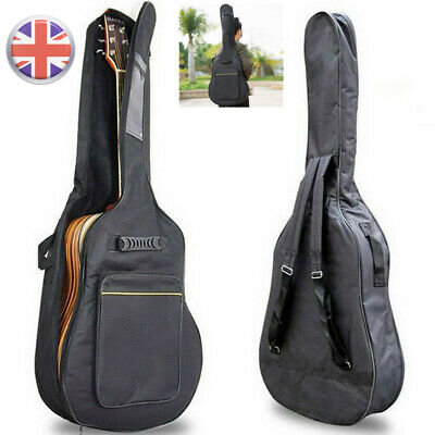 Black Full Size Padded Protective Classical Acoustic Guitar Back Bag Carry Case