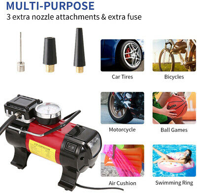 12V Air Compressor Heavy Duty Powerful Car Tyre Electric Inflator 150PSI Pump UK