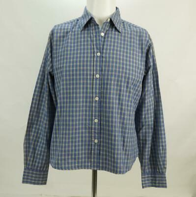 NWT Buckle Stitches Men's Blue Dress Shirt Size Small Long Sleeve