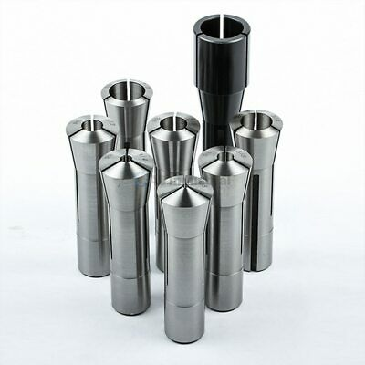 "6 Pcs High Precsion R8 Collet Set Fractional 1//8/"" to 3//4/"" for Bridgeport"