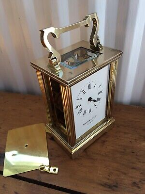 Mechanical Mappin & Webb London Carriage Clock