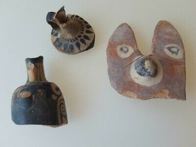 3  ancient apulian objects    4th century BC