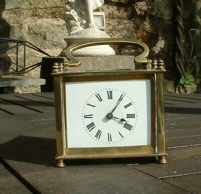 Cased French Brass Carriage Clock  8 Day