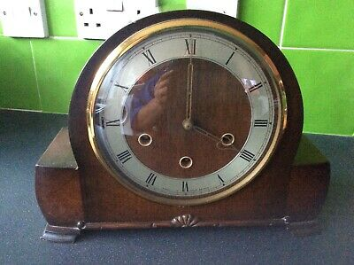 VINTAGE SMITHS WESTMINSTER CHIMING MANTLE CLOCK  spares or repair