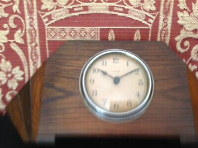 Vintage St Michael  art deco wooden mantle clock Working But Needs Attention