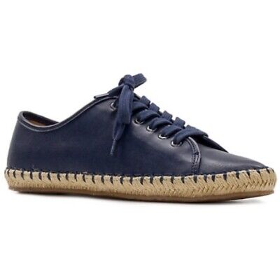 Patricia Nash Blue Leather Lace-Up Sneakers Size 7